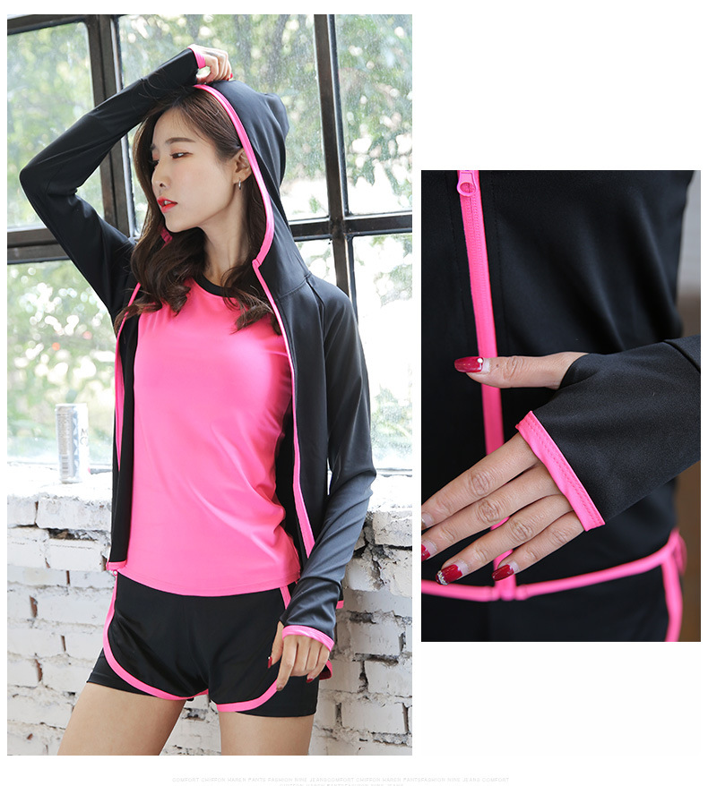 New Style Workout  Jacket Clothes Sports Jogging Suits WOMEN'S Casual Plus-sized Stretch Jacket