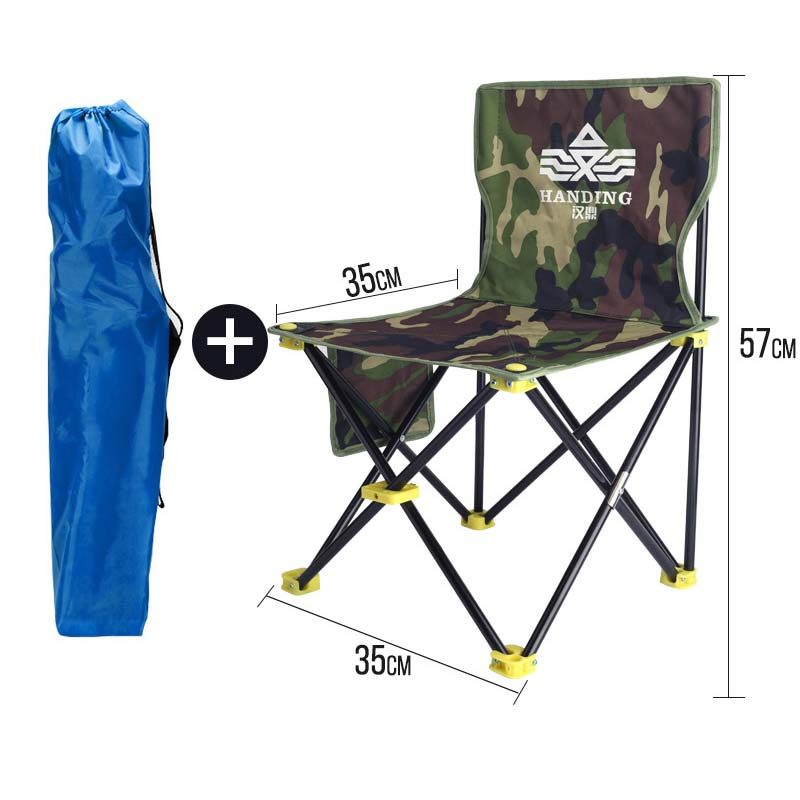 Hiking Folding Lounge Chair Wild Stool Beach Chair Easy Carry Fishing Chair Multi-function Table Folding Portable Fishing Chair