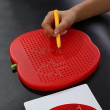 Детская игрушка доска для рисования большая магнитная пластиковая Милая легко переносная обучающая игрушка доска для письма для детей