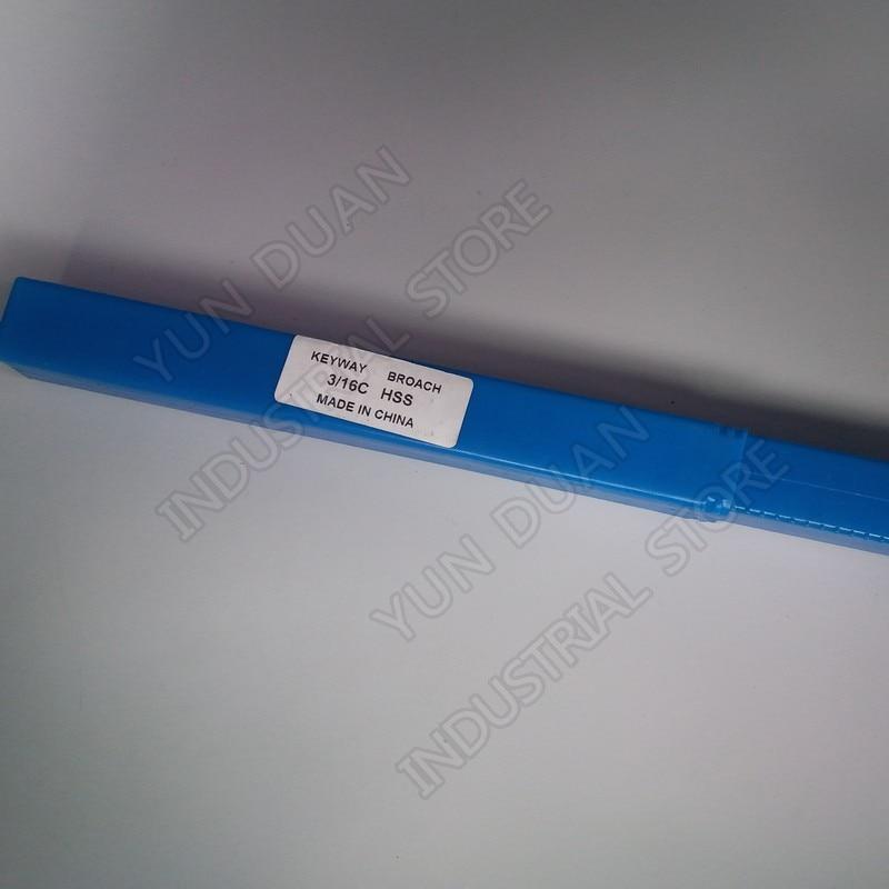 Push tipo Hss Ferramenta de Corte para Cnc Aço de Alta Keyway Broach Polegadas c Velocidade Broaching Máquina Metalurgia 3 – 16