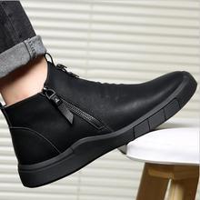 CS807/Мужская обувь; дизайнерская обувь из натуральной кожи с подкладкой из шерсти; Сезон Зима; очень теплые уличные ботильоны; зимние ботинки; повседневные кроссовки
