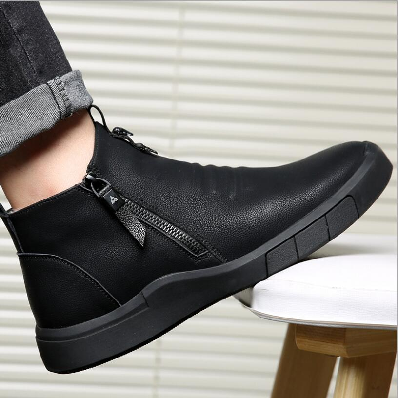 CS807 Men Shoes Designer Genuine Leather 100%wool Lining Winter Super Keep Warm Outdoor Ankle Boots Snow Boots Casual Sneakers