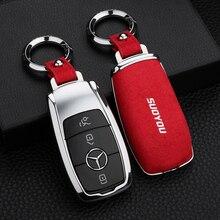 Искусственный Флип Меховой чехол для ключей автомобиля для Mercedes-BenzW204 GLC260 C200CLA GLA200 W177 W213 W222 A225 A217A238 S205 S213 C205 C217C238 C257