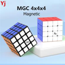 YJ MGC 4x4 manyetik sihirli hız Yj küp Yongjun MGC 4 M 4 M mgc4 M 4x4x4 mıknatıslar bulmaca küp eğitici oyuncaklar çocuklar için