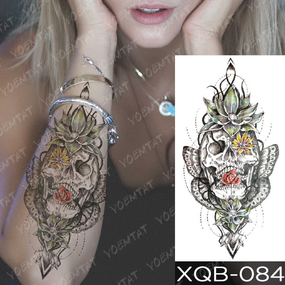 Tatuagem temporária à prova dwaterproof água adesivo escada cor árvore flash tatto lobo harajuku lírio sereia corpo arte braço falso tatoo