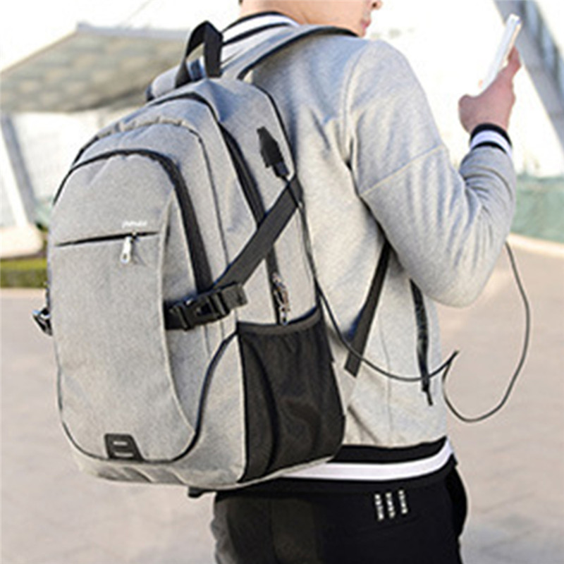 LOOZYKIT Men Business Laptop Backpack With USB Charging Port Anti Theft Travel Bag 15.6 Inch Computer  Notebook Mochila Male