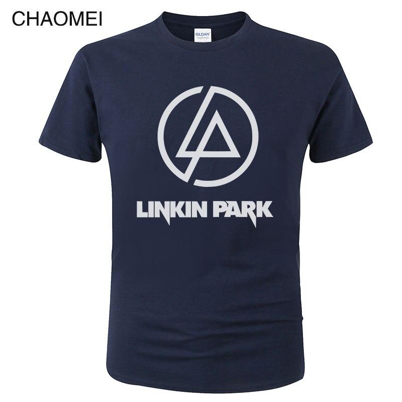 Men New Style Tops Linkin Park T Shirt Hip Hop Lincoln Summer Rock Men's Short Sleeve T-Shirt Fashion Casual Hipster Tees C104