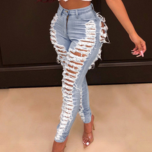 2019 Sexy Ripped Jeans For Women Fashion Casual Cl