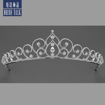 Bride talk The luxur and exquisite royal crown to women Wedding & engagement jewelry Dubai Iran popular Hair accessories