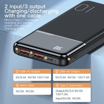 Внешний аккумулятор KUULAA на 10 000 ма · ч с USB-портами 4