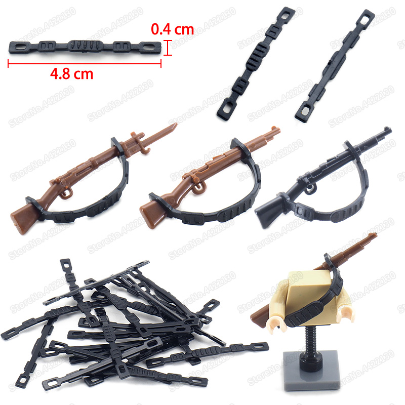 Gun Belt Military Building Block Equipment Assemble World War 2 Figures Weapons Band Model Pubg Christmas Gifts Educational Toys