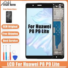 2019 AAAA Original LCD For Huawei P8 Lite P9 Lite LCD Display Touch Screen Digitizer With Frame ALE-L04 ALE-L21 ALE-L04 ALE-L21
