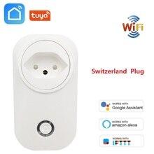 Schweiz Stecker WIFI Smart Buchse Drahtlose CH Outlet Tuya Smart Lebensdauer Power Monitor Für Alexa Google Home IFTTT