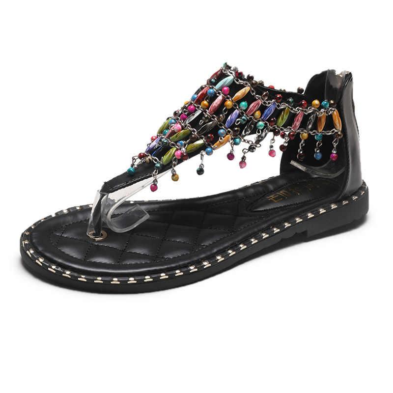 Bonjean/Брендовая обувь; Женские шлепанцы из натуральной кожи; Сандалии на плоской подошве; Повседневные шлепанцы; Летние пляжные женские вьетнамки