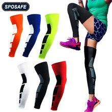Manchons de jambe de Compression pleine longueur antidérapants pour sport, protection de soutien d'attelle de mollet et de tibia pour le basket-ball, soulagement de la douleur et récupération, 1 pièce