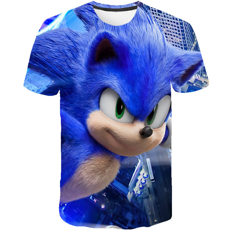 2020 Summer Fashion Sonic The Hedgehog T Shirt Children Boys Short Sleeves Newest Sonic Tees Baby Kids 3d Tops For Girls Clothes T Shirts Aliexpress