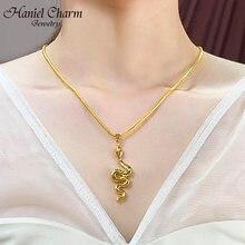 Ожерелье из нержавеющей стали в виде змеи для женщин подвеска