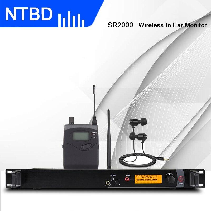 NTBD Bühne Leistung Sound Broadcast SR2000 Professionelle Drahtlose In-Ear-Monitor-System Einzel Transmitter Original Sound