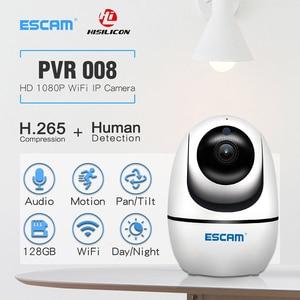 Image 5 - ESCAM PVR008 H.265 אוטומטי מעקב PTZ פאן/טייל מצלמה 2MP HD 1080P אלחוטי ראיית לילה Ip מצלמה