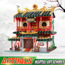 DHL 01004 2531Pcs Chinese Building Series The Chinese Martial Arts Set Children Building Blocks Bricks Kids