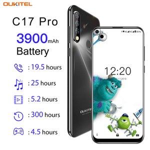 Image 2 - OUKITEL C17 פרו 6.35 אנדרואיד 9.0 4GB 64GB Smartphone 19:9 MT6763 מעבד טביעת אצבע פנים מזהה אוקטה Core 3900mAh 4G נייד טלפון