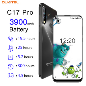 Image 2 - OUKITEL C17 Pro 6.35 Android 9.0 4GB 64GB Smartphone 19:9 MT6763 CPU Fingerprint Face ID Octa Core 3900mAh 4G Mobile Phone