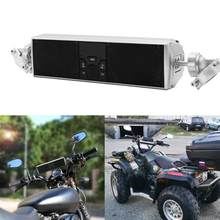 Motorcycle Audio Waterproof LED Display APP Control MP3/TF/USB FM Radio Stereo Speakers Motorcycle Bluetooth Audio Sound System(China)