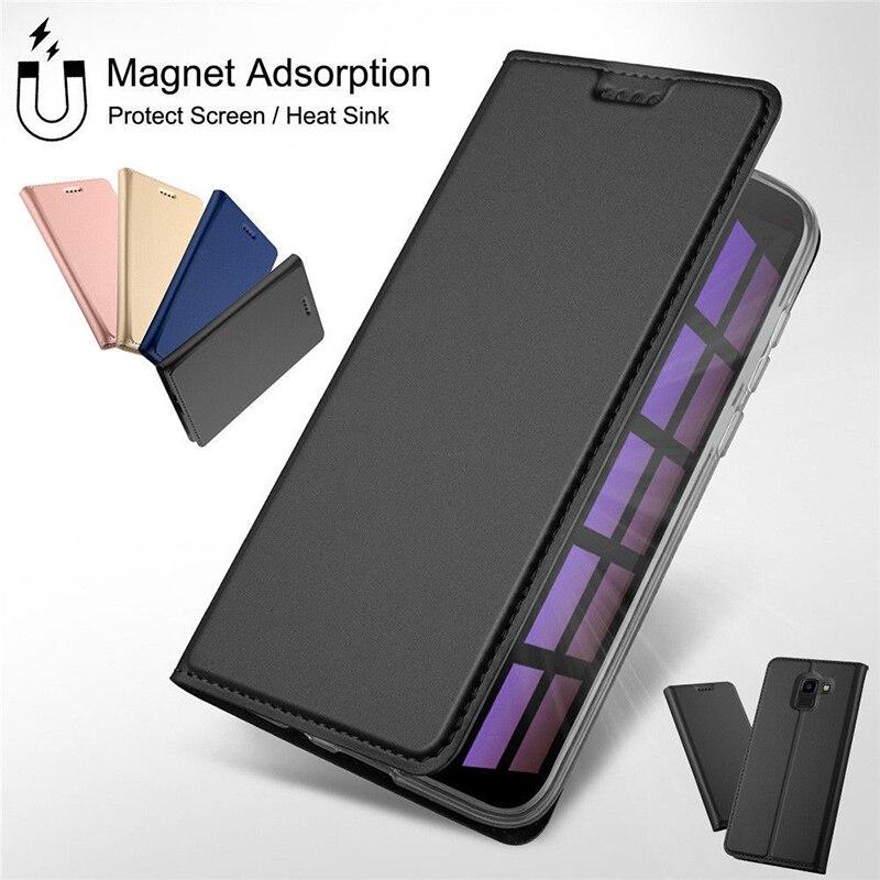 Magnetische Leder Buch Flip Telefon Fall Für Xiao mi mi A2 Lite A1 Karte Halter Abdeckung Für Red mi Hinweis 7 5 6 Pro 5A Prime 4X4 6A Plus