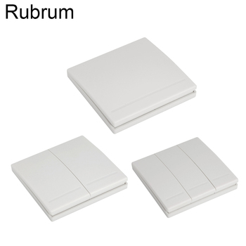 Rubrum 433Mhz 86 Wall Panel Wireless Remote Control Switch Transmitter 1 2 3 Button RF Receiver For Bedroom Ceiling Light Lamp