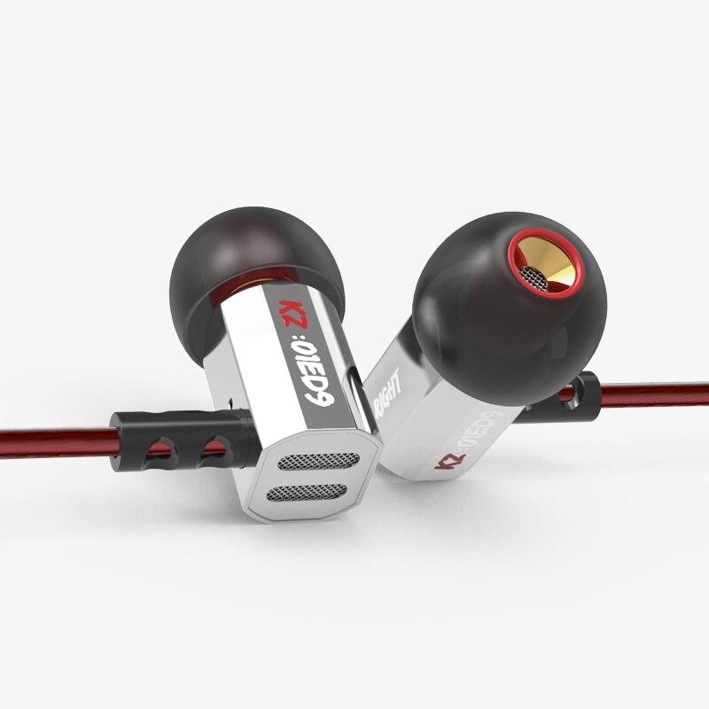 KZ ED9 Ear Heavy Bass Music Mobile Phone Headset Fever HIFI Zinc Alloy Metal Earphones ED12 ES3 ES4 ZST AS10 ED2 ZS3 ZS6 ZS5