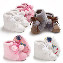 Baby Shoes Toddler Girls Boys Winter Soft Warm Sneakers Soled Faux-Fur Anti-Slip Casual