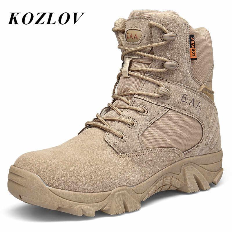 Militare Della Caviglia Stivali Degli Uomini di US Army Caccia Trekking Campeggio Stivali Per Gli Uomini Desert Boots Stivali Tattici Casual Scarpe Da Trekking Sneakers Botas