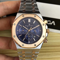 Reloj mecánico automático de marca de lujo para hombre, reloj de cristal de zafiro, plata, oro rosa, relojes deportivos negros, azules, blancos, AAA