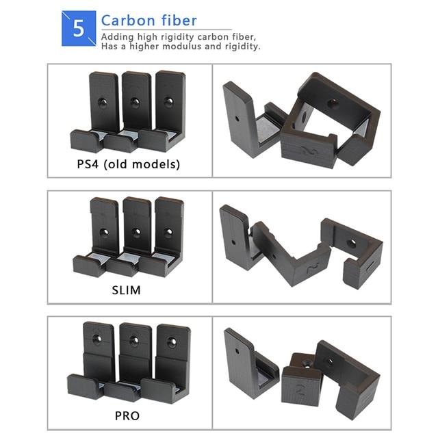 עבור PS4 פרו PS4 Slim משחק קונסולת תליית קירור Stand נגד החלקה סיליקון קיר הר מתלה שבב קיר מקל dock Stand חובט