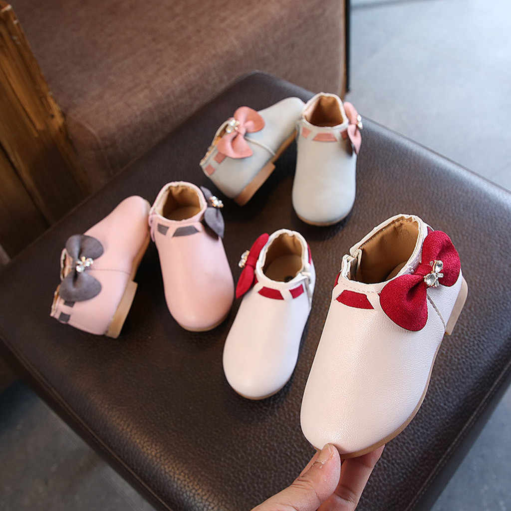 2019 Baby Kids girls Warm Winter Leather Boots Botas boots Fashion Girls Princess Casual Children Princess Dance Party Shoes