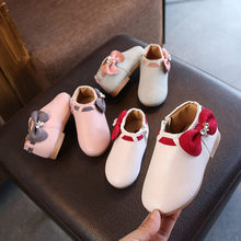 2019 Baby Kids meisjes Warme Winter Lederen Laarzen Botas laarzen Mode Meisjes Prinses Toevallige Kinderen Prinses Dance Party Schoenen(China)