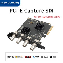 Pcie-Capture-Card Acasis Broadcast-Streaming Game Live 1080P SDI for Meeting 4-Channel