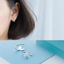 La Monada Hoop Earrings For Women Silver 925 Minimalist Leaf Fine Women Earrings Jewelry Hoop Earrings 925 Sterling Silver пароочиститель endever odyssey q 410