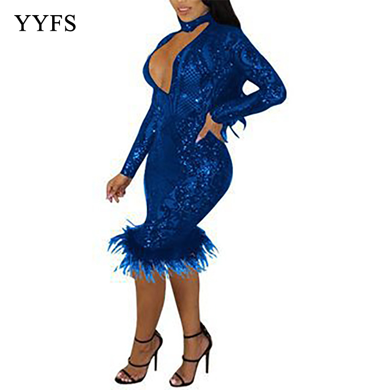 Women Sexy Long Sleeve Mesh See Through Hollow Out Lace Maxi Formal Party Elegant Bodycon Dress Sequined Dresses Ladies in Dresses from Women 39 s Clothing