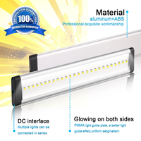 3pcs Under Cabinet Closet Lamp Showcase Super Bright LED Dimmable Bar Kitchen Wardrobe Remote Control Light Strip Kit Ultrathin