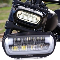 New DRL Led Headlight For Fat Bob 2018 2019 Hi Low Beam Daytime Running Lights Refit Motorcycle Fatbob Accessories