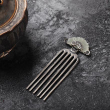 Jewelry Hairpin Jade Retro Charm Silver Comb Thai Chinese Inlaid Designer Ladies New