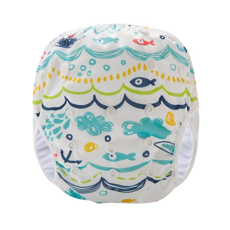 Reusable Baby Swim Diapers Waterproof Diaper Leakproof Wave Ripple Diaper SM-DY6