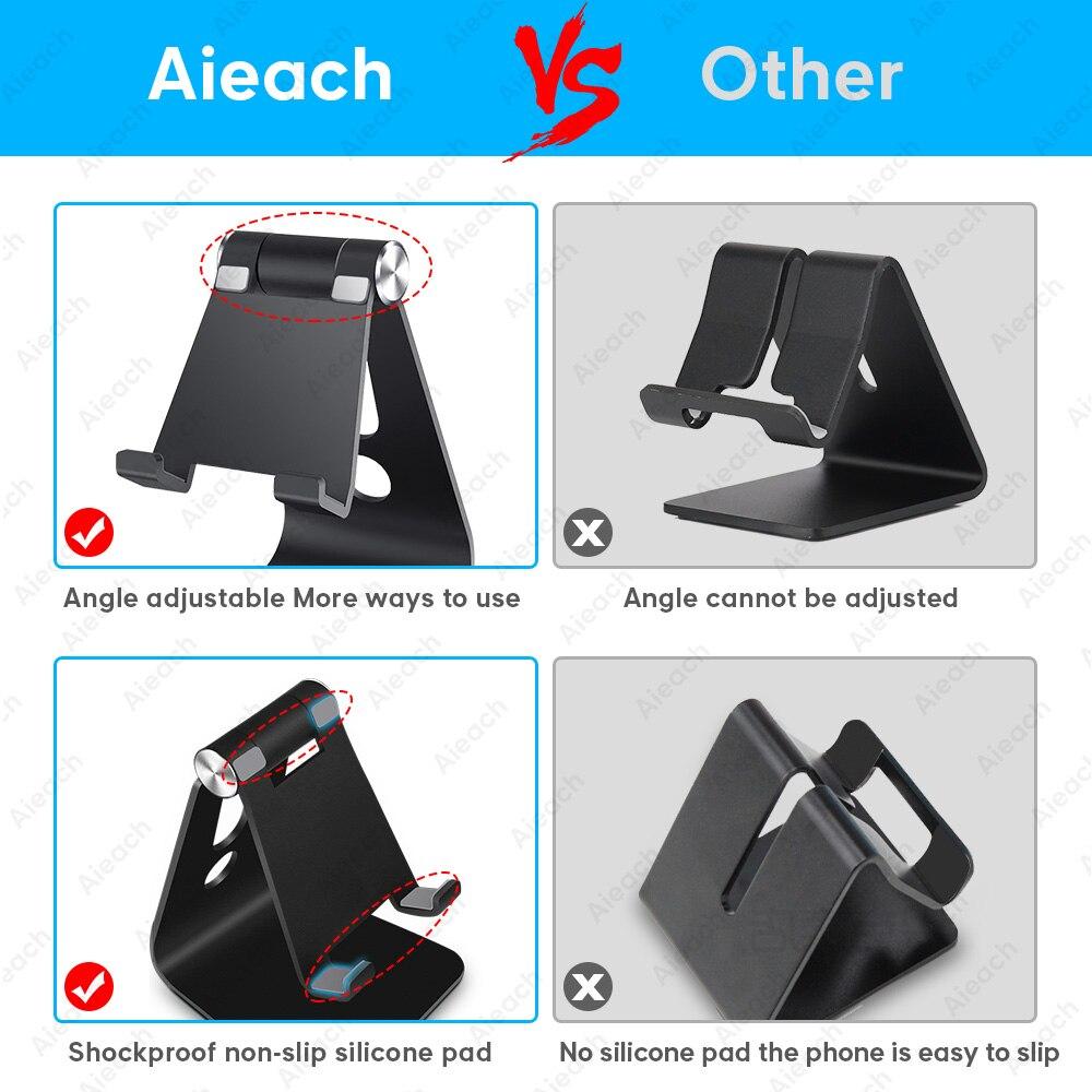Aieach desktop titular tablet suporte para ipad 9.7 10.2 10.5 11 polegada rotação de alumínio tablet suporte seguro para samsung xiaomi 5
