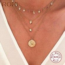ROXI – Mini colliers foudre Vintage pour femmes, pendentif classique en argent Sterling 925, chaîne de bijoux, cadeau de fête