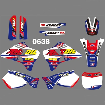 For YAMAHA YZ125 YZ250 1996-2001 Graphics Decals Stickers Custom Number Name 3M Full  Motorcycle Backgrounds Accessories