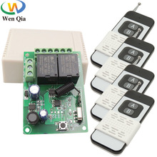 433MHz Remote Control Long Range 1000m Wireless Transmitter DC 6-30V 2CH RF Receiver Universal For Garage/Gate/Motor/Light/Lamp