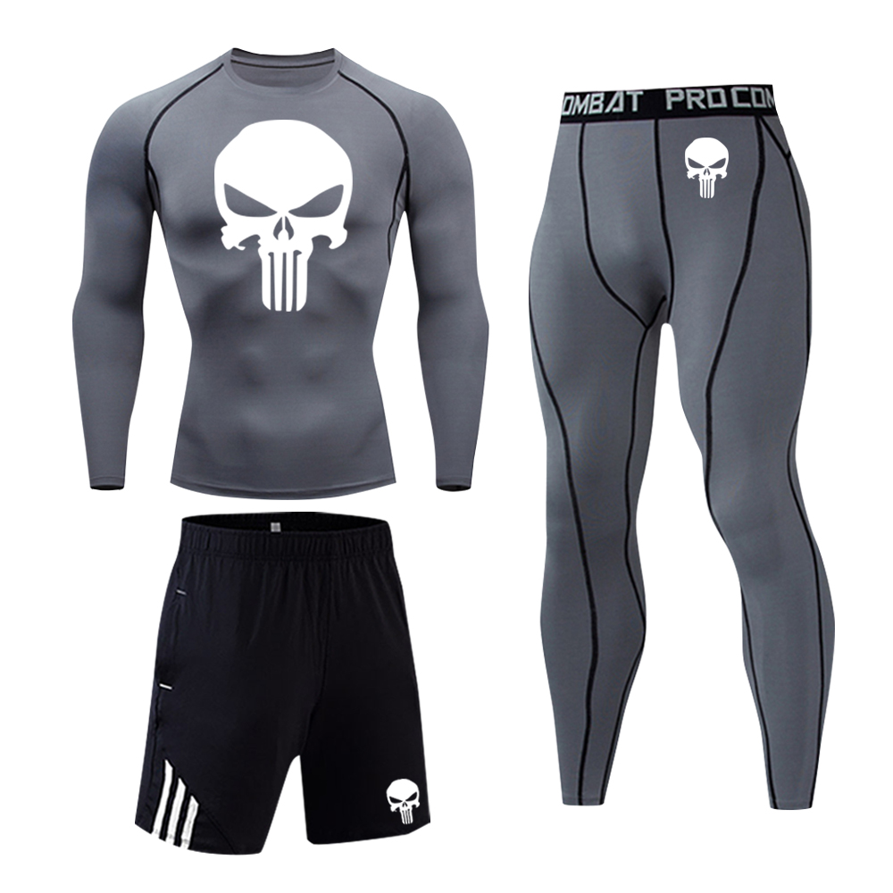 Gym Running Sportswear 2021 New Men's Outdoor Cycling Ski Thermal Underwear Set Quick-Drying Lightweight Compression Track Suit