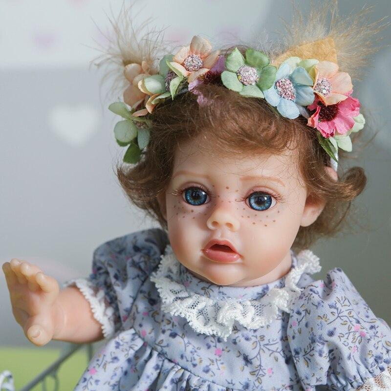12 zoll Simulation Bebe Reborn Silicona 35cm Lebensechte Elf Baby Puppe Fertig Weihnachten Geschenke Spielzeug für Mädchen Kleinkinder Juguetes kid