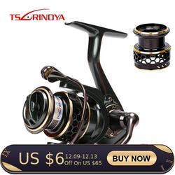 TSURINOYA Fishing Reel JAGUAR 1000 2000 3000 Double Spool 9+1BB Saltwater Spinning Fishing Lure Reel Rigid aluminum body